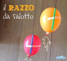 il razzo da salotto   - balloon rockets!