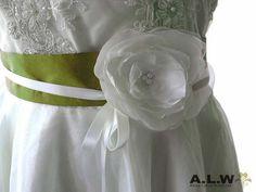 Romantischer Seidengürtel in Rrün von alw-design auf DaWanda.com
