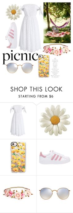 """""""End of Summer Picnic"""" by redrosesblue ❤ liked on Polyvore featuring Chicwish, Casetify, adidas Originals and Ray-Ban"""