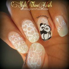 Style Those Nails: Hug like Pandas ! A cute valentine day Manicure