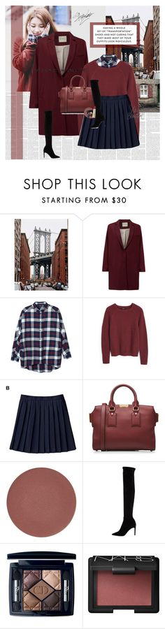 """Suzy Bae"" by blackjacklove21 ❤ liked on Polyvore featuring American Vintage, Monki, MANGO, Burberry, Chantecaille, Delman, Christian Dior, NARS Cosmetics, Dolce&Gabbana and country"