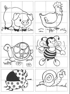 rompecabezas de animales para imprimir - Buscar con Google Classroom Activities, Learning Activities, Preschool Activities, Kids Learning, Folder Games, Busy Book, Colouring Pages, Pre School, Kids Rugs