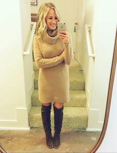 Love this Ralph Lauren wool-cashmere turtleneck dress