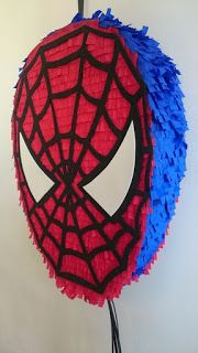 Superhero Birthday Party, 6th Birthday Parties, Birthday Party Decorations, 4th Birthday, Spiderman Theme, Mini Pinatas, Man Party, Celebrations, Pastel