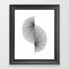 Mid Century Modern Geometric Abstract S Shape Line Drawing Pattern Framed Black and White Print by Minimal Instant Black And White Doodle, Black And White Wall Art, Black And White Abstract, Modern Drawing, Line Drawing, Vinyl Wallpaper, Mid Century Modern Furniture, Pattern Drawing, Vinyls