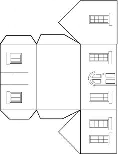 KleuterDigitaal - wb bouwplaat huis 01 |  | See more worksheets and templates at http://www.pinterest.com/RoosGast/worksheets-and-templates-for-crafting-downloads-we/