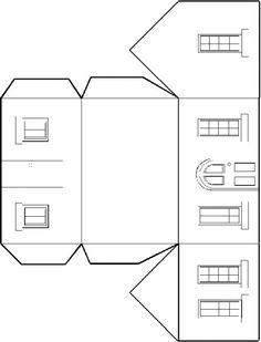 KleuterDigitaal - wb bouwplaat huis 01 |  | See more worksheets and templates at http://www.pinterest.com/RoosGast/worksheets-and-templates-for-crafting-downloads-we/