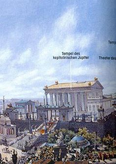 painted recreation of the Temple of Jupiter Optimus Maximus by Bühlmann