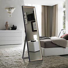 "58.25""Black Frame Polished Floor Mirror - USD $ 99.99 Cheap Mirrors, Floor Mirror, Buying Wholesale, Oversized Mirror, Flooring, Frame, Furniture, Black, Ideas"