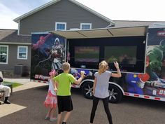 Our top rated mobile video game truck is a great way to connect with your community or family in a convenient way. If you're hosting a party or family event, this is a great way to entertain and keep everyone engaged! We have amazing prices that match the quality of fun you will have! With high quality equipment and games, this a neat way to create a stress-free day of fun. So round up the kids and your friends, and plan for our mobile video game truck to come straight to your door…