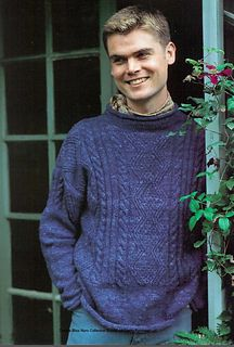 Ravelry: Guernsey Style Sweater pattern by Debbie Bliss Sweater Knitting Patterns, Knit Patterns, Free Knitting, Knitting Sweaters, Knitting Ideas, Knitting Projects, Ravelry, Mens Jumpers, Pulls