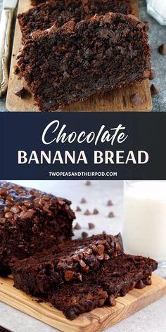 Banana Bread Recipe Video, Homemade Banana Bread, Easy Banana Bread, Easy Bread Recipes, Cake Mix Recipes, Fudge Recipes, Homemade Chocolate, Homemade Food, Buttermilk Recipes