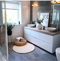 Have a nice relaxing evening all! Gorgeous bathroom designed by 🖤🙌🏻 . Bathroom Styling, Bathroom Interior Design, Ikea Interior, My Living Room, Interior Design Living Room, Cottage Style Bathrooms, Zen Bathroom, Guys Bathroom, Asian Bathroom
