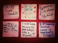 """These are post its written by our Knoxville community about loving one another. We made an """"I Love You"""" wall outside, and let people go to town!"""