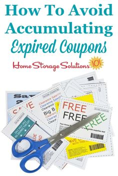 How to avoid accumulating expired coupons, with practical tips and habits to implement {on Home Storage Solutions 101}