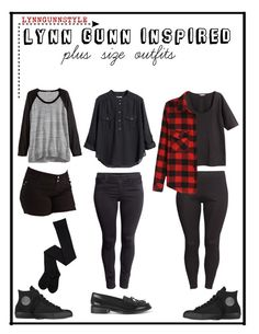 """""""Lynn Gunn"""" by halfmoonkelly ❤ liked on Polyvore featuring 1826 JEANS, H&M, Converse and Warehouse"""