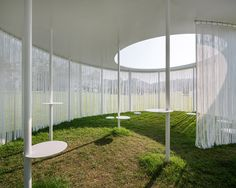 This white Oasis structure provided seating and shade during the Amorepacific Museum of Art Project exhibition (APMAP) earlier this year.