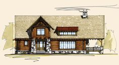 Badger Pass | Timber Frame House Plans | Log House Plans