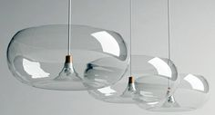 """This elegant pendant light, named """"Untitled Collaboration Work"""", is the brain child of South Korea based Design-Jay and glass artist Yoowan, Yang."""