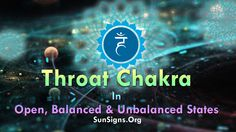 The Throat Chakra is located on the larynx region of the throat. Astrology Today, Sun Sign, Throat Chakra, Healing