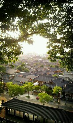 전주한옥마을  from ohmokdae _ Jeonju Hanok Village