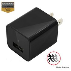 Beroo Hidden Camera Disguised As AC Wall USB Charger, Motion Detection Spy Camera, Watch Nanny, 1080p HD with 32GB Internal Memory