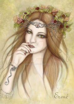 Litha Goddess of Summer by Imramma on DeviantArt Makeup Looks 2018, Autumnal Equinox, Wiccan Crafts, Autumn Rose, Pagan Witch, Season Of The Witch, Sabbats, Beltane, Summer Solstice
