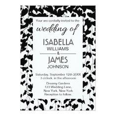 Black & White Vines Wedding Invitation - classy gifts custom diy personalize