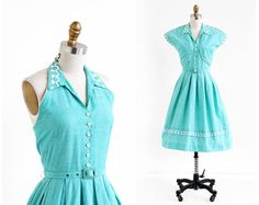 Hey, I found this really awesome Etsy listing at https://www.etsy.com/listing/178143533/vintage-1950s-dress-50s-dress-mint-green