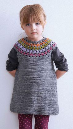 Crochet Girl's Dress Pattern. To fit girl's sizes: 2, 4, 6, 8, 10 Pattern Pages: 1, 2 More Patterns Like This!