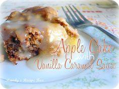 Apple Cake with Vanilla Caramel Sauce @Mandy Bryant {Mandys Recipe Box}