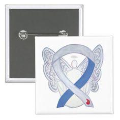 Diabetes Awareness Ribbon Custom Angel IDDM Pins