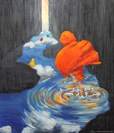 """『雨道を抜けて』北原 千 """"Through the Raining Road"""" By Sen Kitahara, 油彩, art, oil"""