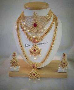 Jewellery Fancy Jewellery, Gold Jewellery Design, Bridal Jewellery, Pakistani Bridal Jewelry, Indian Jewelry, Golden Jewelry, Antique Necklace, Wedding Jewelry Sets, Jewelry Patterns