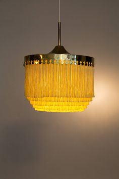 Hans Agne Jakobsson Brass Scandinavian Lamp
