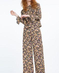 Immagine 4 di PANTALONI STAMPATI di Zara