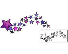 Show details for Shooting Stars Tattoo AAF-11088