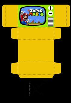 Caja imitando un televiaor.