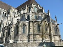 1150 La Cathédrale de Noyon Notre Dame, France (eastside from the north). Cathedral Architecture, Gothic Architecture, Hugues Capet, Flying Buttress, Earth Book, Gothic Cathedral, Amiens, Reims, Oise