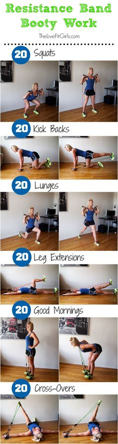Get that booty burning with this Resistance Band Booty Workout! Get that booty burning with this Resistance Band Booty Workout! Fitness Workouts, Fitness Motivation, Band Workouts, Fit Girl Motivation, Butt Workout, At Home Workouts, Workout Diet, Exercise Motivation, Exercise Routines