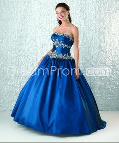 Gorgeous+Floor-Length+Strapless+Tiered+Sequins+Quinceanera/Ball+Gown+Dresses