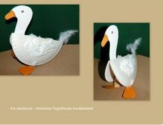 Márton-nap :: Óvoda Goose using a paper plate for the body and paper other paper attachments for the feet, neck and head