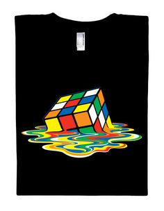 melting rubik tee.