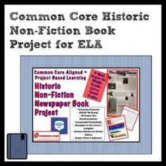 Historic Non-Fiction Book Project for Middle Grades ELA +