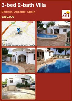 3-bed 2-bath Villa in Benissa, Alicante, Spain ►€360,000 #PropertyForSaleInSpain