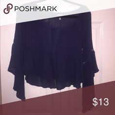 Boho bell sleeved top From Tobi no flaws navy blue color ! Tobi Tops Blouses