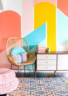 Geometric Wall Paint: Design Ideas With Tape Trends) - Geometric Wall Paint: Design Ideas With Tape. Looking for ideas of geometric wall paint design?