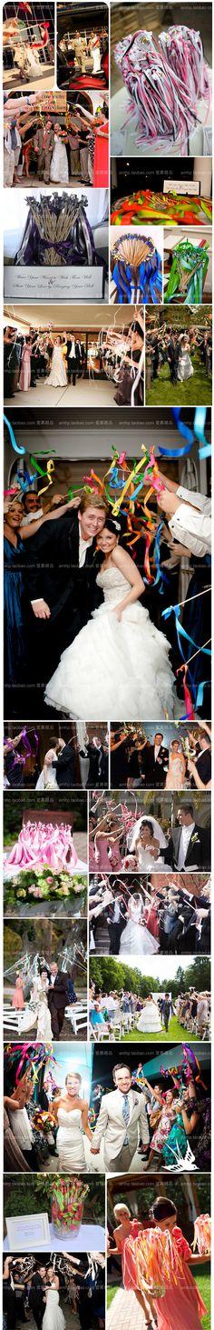 The European wedding ribbon wand magic wand married decorative lawn wedding essential supplies LH-09-Taobao