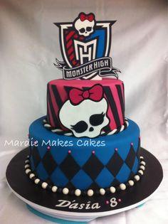 Monster High Cake  www.facebook.com/MardieMakesCakes