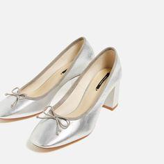 82fe6e93242 LAMINATED LEATHER BALLERINAS WITH HEEL - NEW IN. Zara ShoesDress ...